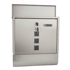 Large Wall Mounted Mailbox Postbox Outside Mail Post Letter Box Steel Outdoor