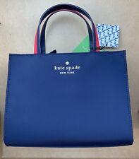 Kate Spade Satchel Crossbody Navy Handbag Watson Lane Varsity SAM Purse NWT $198