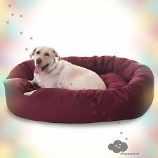 Dog Bed Faux Suede Bagel 52-inch (Burgandy Red) NEW. CHEAP. FREE SHIPPING