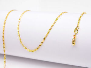 1PCS 28inch Jewelry 18K Yellow Gold Filled Chain Flat S GF Necklaces For Pendant