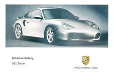 Porsche 996/911 Turbo Mode D 'em Ploi , Manuel D'Instructions, Modèle Année 2001
