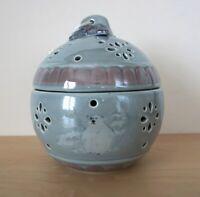 PFALTZGRAFF Blue White Polar Bear Winter Snow Potpourri Ceramic Holder Container