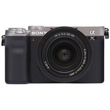 Cámara digital Sony Alpha a7 sin espejo con lente de 28-60mm Plateado
