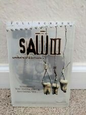 Saw 3 three III dvd movie film one disc full screen unrated
