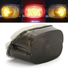 Smoke LED Tail Brake Turn Light For Harley Electra Glide Sportster Softail XL