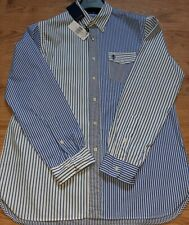 Ralph Lauren Oxford Club 2 Large BNWT Mens Blue Striped Long Sleeve Shirt