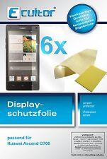 6x Huawei Ascend G700 Film de protection d'écran protecteur cristal clair