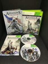 Assassin's Creed III 3 (Microsoft Xbox 360, 2012) With Steel Book Case US/Canada