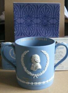 Ultra Rare Wedgwood Jasperware Blue Very Large City of Stoke Loving Mug
