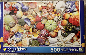 Puzzlebug 500 Piece Puzzle Shells Sea Shell Pearl  NIB New