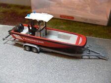1/87 Wiking Lehmar Feuerwehr Mehrzweckboot MZB 72 mit Dach 0095 47*