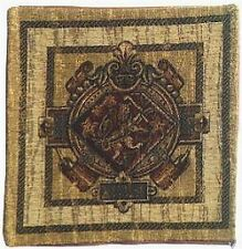 Lions Belgian Medieval Coat of Arms  Chenille Tapestry Cushion Pillow Cover