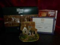 LILLIPUT LANE Candy Cottage L2327 Sales Promotion S.E. Model Cottage Boxed+deeds