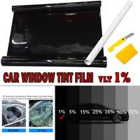 Window Tint Film Ultra Limo Black Roll VLT 1% Car Home 76cmX7m Tinting Tools Kit