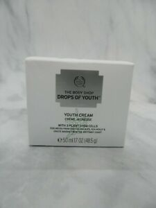 The Body Shop Drops of Youth Cream 3 Plant Stem Cells 1.7 oz NEW
