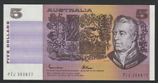 Johnston / Fraser - 1985 : General prefix Five Dollar Australian Paper Banknote,