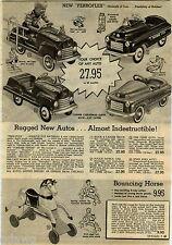 1951 ADVERT 3 Pg Pedal Car Perroflex Train Marx Electric Astral-Dome