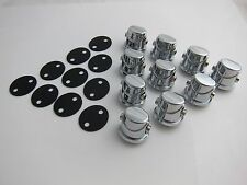 10 Double End Tom / Snare Drum Lugs with Gaskets without Mounting Screws