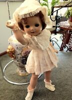 "Vintage Composition Doll 1930,s 21""All original"