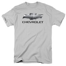 Mens Chevrolet Logo Bow Tie Silver T-Shirt