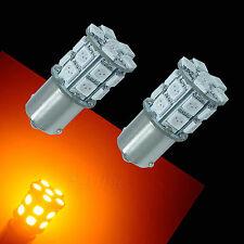 2x 1156 BA15S 20 SMD 5050 LED Cars Motorcycles Signal Turn Bulbs Yellow Amber