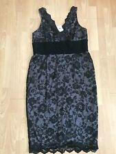 BNWT M&S Black Lace Fitted Party Cocktail Dress @ Size UK 20 NEW £45