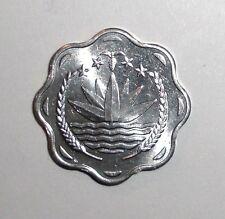 Bangladesh 10 poisha, Water Lily, plant scalloped coin