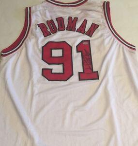 Dennis Rodman Signed Chicago Bulls Jersey / 5x NBA Champion / Tristar Hologram