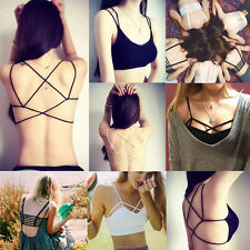 New Fashion Bralette Caged Back Cut Out Strappy Padded Bra Bralet Vest Crop Top