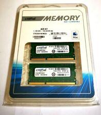 CRUCIAL 4GB 2X2GB DDR3 SODIMM Laptop RAM Memory MAC BRAND NEW