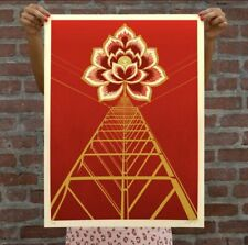 New ListingObey Giant Flower Power Red Signed Numbered Screen Print x/375 *In Hand*