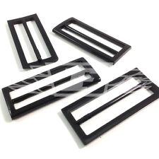 Confezione da 25, 80mm x 35mm Fibbia in Plastica Nera PULSANTE PULSANTI cucito (create la vostra community 27182)