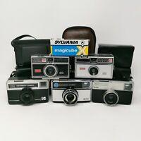 5 Vintage Kodak Cameras All Working Instamatic 304 233-X 255x 77x 100 set6