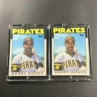 BARRY BONDS 1986 TOPPS TRADED #11T *PIRATES* (2-CARD LOT) ROOKIE RC LOT MLB