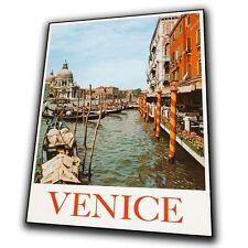 Venice Italy Vintage Retro Travel Advert Metal Sign Wall Plaque art print poster
