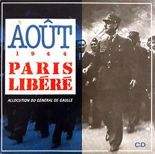 Général de Gaulle CD Août 1944 - Paris Libéré - France (VG+/EX+)