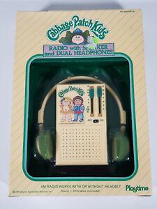 1980s Cabbage Patch Kids Radio w/ Speaker & Dual Headphones Playtime