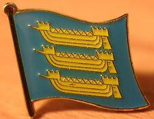 Cinque Ports Historic Kent Sussex Towns England County Flag Enamel Pin Badge UK