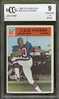 1966 Philadelphia #38 Gale Sayers Rookie Card BGS BCCG 9 Near Mint+