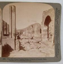Stereoview Underwood The Old Wheel Tracks Street Of Stabia Pompeii Italy (O)