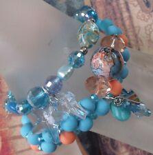 New 3 Stackable Summer Sea Fashion Fish Cross Crystal Christian Theme Bracelet