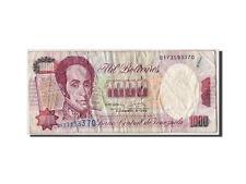 Billets, Venezuela, 1000 Bolivares, 1992, KM:73c, 1992-12-08, B+ #310537