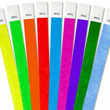 """100ct, 500ct or 1000ct-3/4"""" Tyvek Armbands - Choose Your Color-Clubs,Events,Bars"""