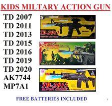 Toy Kids TD Military Assault Machine Guns With Vibration Sound Flashing Lights Mp7a1