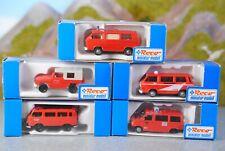 Roco miniatur modell 1:87 Autos Einsatzfahrzeuge Feuerwehr 5-tlg.