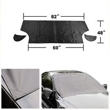 Car Windshield Sun Shade Protect  Snow Cover Tarp Flap Magnetic + Mirrors Cover