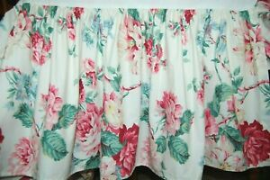 Vtg RALPH LAUREN Lorraine pink rose floral twin bed skirt dust ruffle EUC
