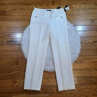 NWT Larry Levine Women's Off White Business Pants Size 10