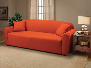 DON'T PASS UP--JERSEY COVERS FOR COUCH LOVESEAT CHAIR RECLINER MANY COLORS AVAIL
