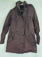 UGG Rylie Rain Jacket with Tech Fabric, Wine, Women's XS